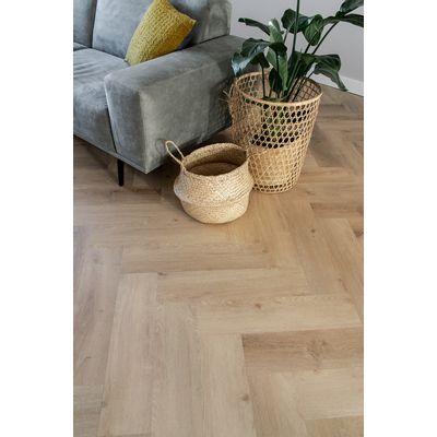 Foto van Prestige Oak Natural LF125400 Visgraat Rigid Click PVC