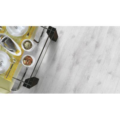 Foto van Kronotex Trend Eiken Wit Rustiek inclusief* ondervloer + deel plint!