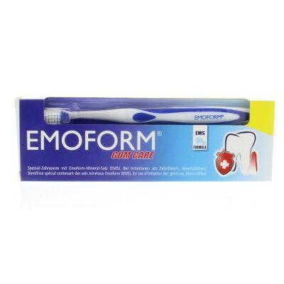 Emoform Tandpasta regular (gum care) + tandenborstel