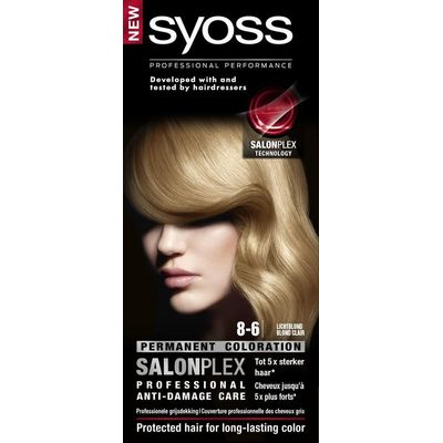 Syoss Color baseline 8-6 light blonde haarverf
