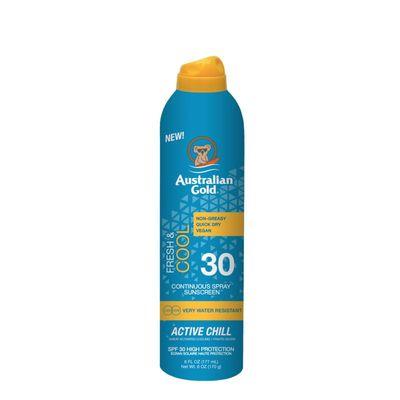 Australian Gold Active chill continual spray SPF30
