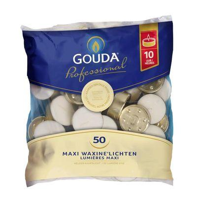Gouda Maxi theelicht 10 uur wit