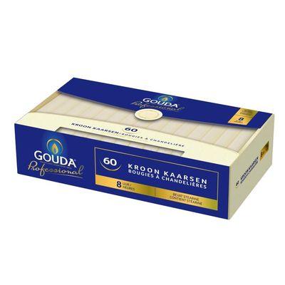Gouda Kroonkaars stearine 200/24 ivoor