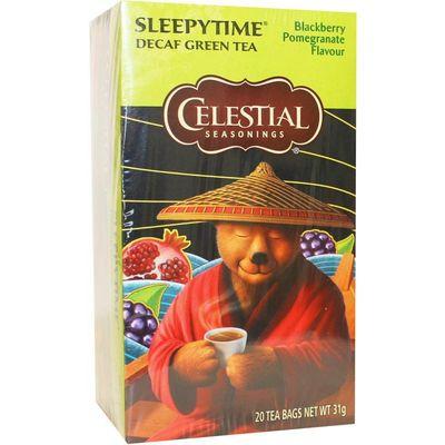 Celestial Season Sleepytime decaf blackberry pomegranate herb tea