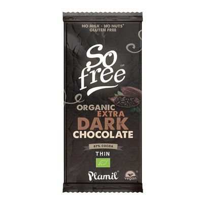 So Free Chocolade reep extra puur 87% cacao dun bio