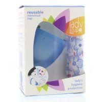 Ladycup Menstruatie cup blue maat L