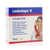 Leukotape K 5 m x 2.5 cm rood