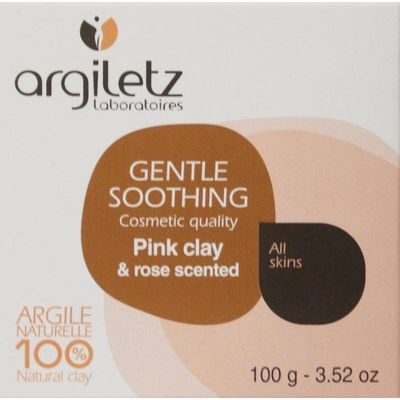 Argiletz Zeep roos/roze klei bio