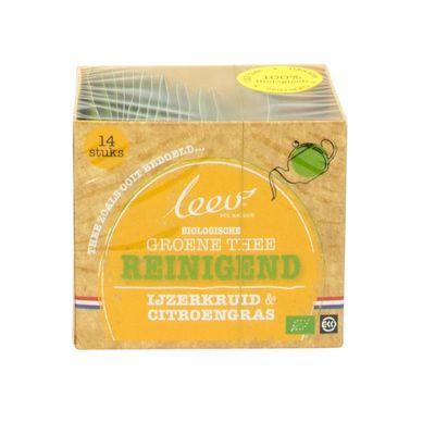 Leev Bio groene thee reinigend ijzerkruid & citroengras