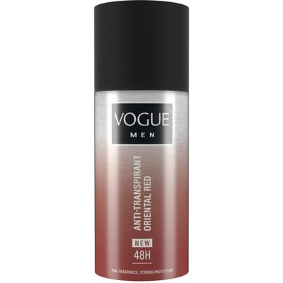 Vogue Men oriental red anti transpirant