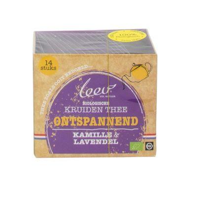 Leev Bio thee ontspanned kamille & lavendel