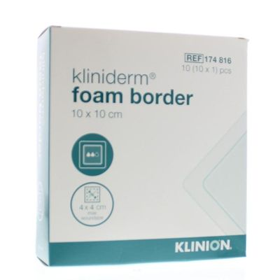 Kliniderm Foam silicone border 10 x 10 cm