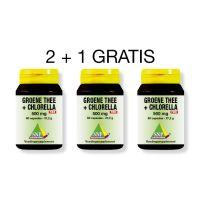SNP Groene thee chlorella 500 mg 2 + 1