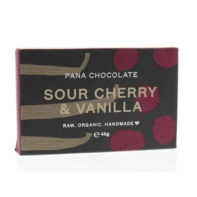 Pana Raw Choco Sour cherry & vanille 60% cacao