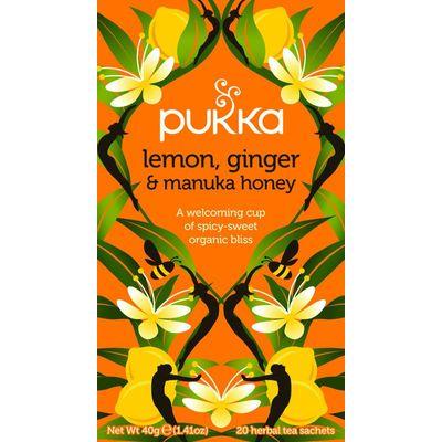 Pukka Org. Teas Lemon ginger manuka honey