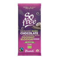So Free Chocolade reep puur 67% met kokossuiker dun bio