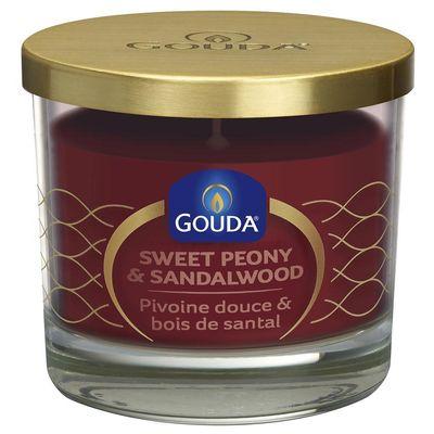 Gouda Gevuld geurglas rode peony/sandalwood 90/100
