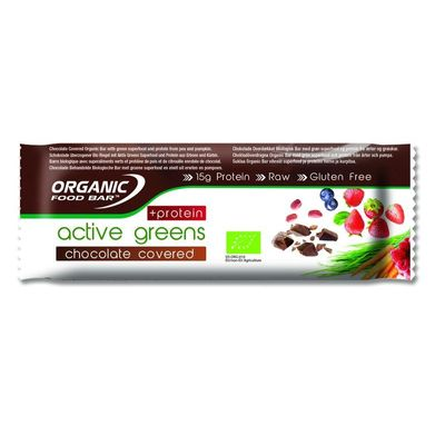 Organic Food Bar active greens chocolade c protein