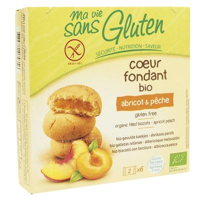 Ma Vie Sans Koekjes met abrikoos / perzik glutenvrij 6 x 2 stu