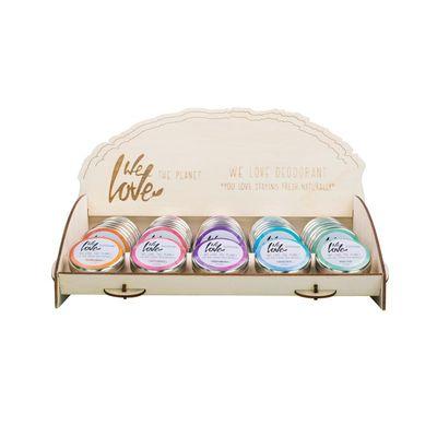 We Love Display 100% Natural deodorant blikjes