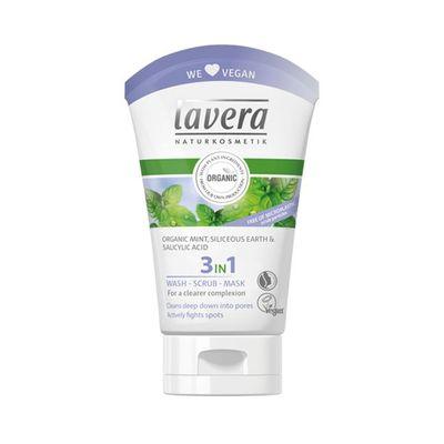 Lavera 3 in 1 Wash scrub mask
