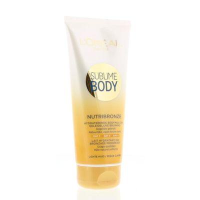 Loreal Body expertise nutribronze bodymilk lichte huid