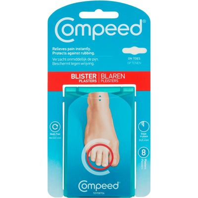 Compeed Blarenpleister on toes