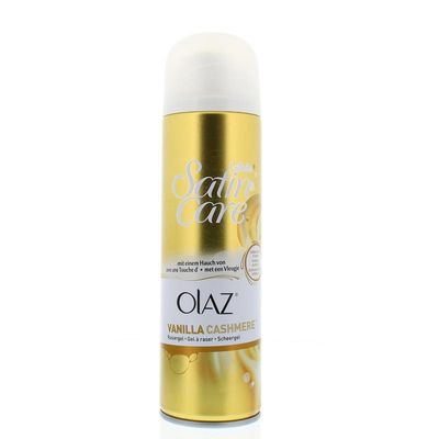 Gillette Satin Care scheergel Olaz vanilla cashmere