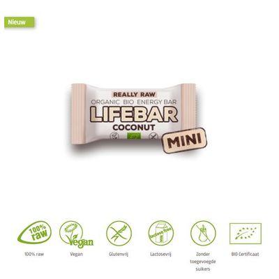 Lifefood Mini lifebar energiereep kokos raw & bio