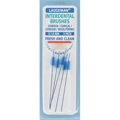 Laugeman Interdental brushes conical 3.1 - 8 mm