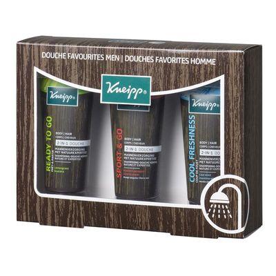 Kneipp Geschenkverpakking douche favorites men 3 x 75 ml