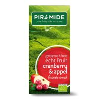 Piramide Groene thee cranberry/appel