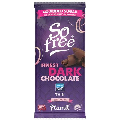 So Free Choco reep puur 75% zonder toegevoegd suiker dun