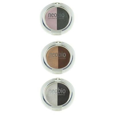 Neobio Eyeshadow duo 02 brown champagne