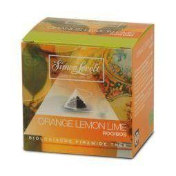Simon Levelt Rooibos orange lemon lime piramidebuil bio