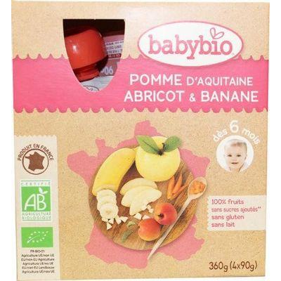 Babybio Vruchtenmoes appel abrikoos banaan 90 gram