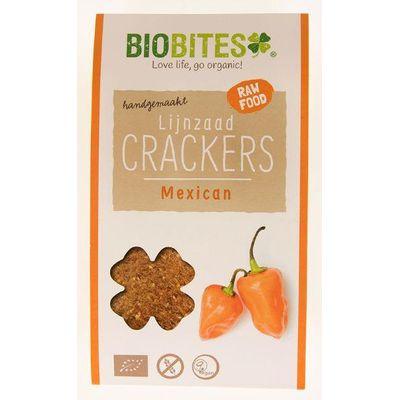 Biobites Raw food lijnzaad cracker Mexican