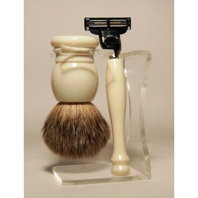 Herbapharm Luxe scheerset ivoor graudas