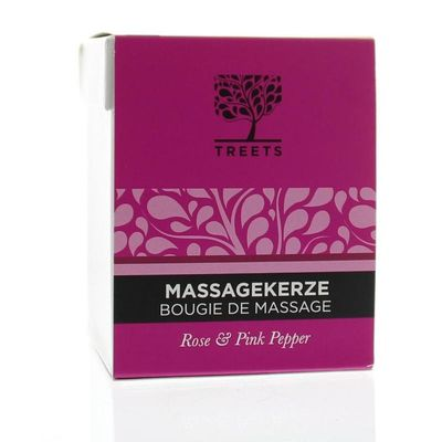 Treets Massage candle rose & pink pepper