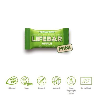 Lifefood Mini lifebar energiereep appel raw & bio