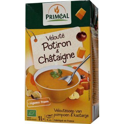 Primeal Veloute soep pompoen-kastanje