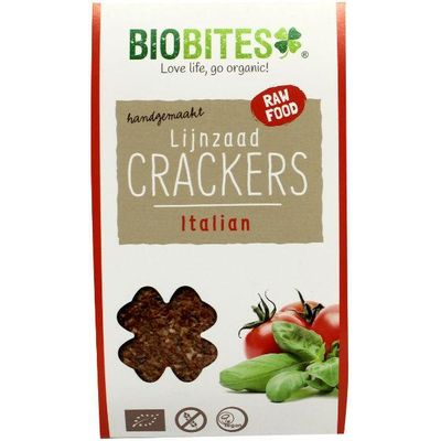 Biobites Raw food lijnzaad cracker Italian