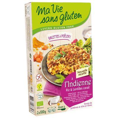 Ma Vie Sans Rijstburger met rode linzen bio - glutenvrij 100g