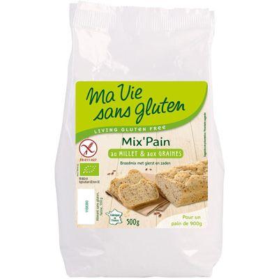 Ma Vie Sans Broodmeel met gierst en zaden bio - glutenvrij