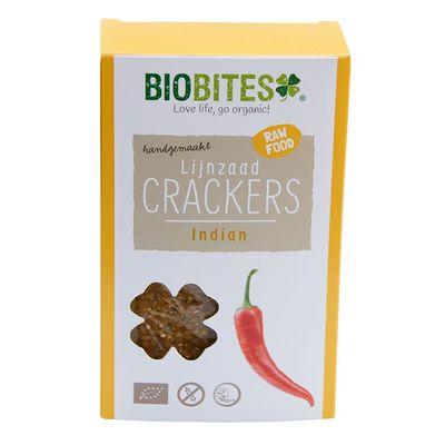 Biobites Raw food lijnzaad cracker Indian