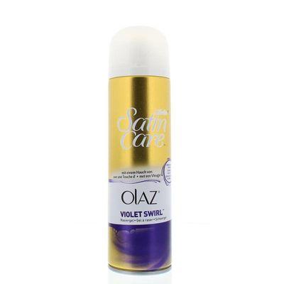 Gillette Satin care scheergel Olaz violet swirl