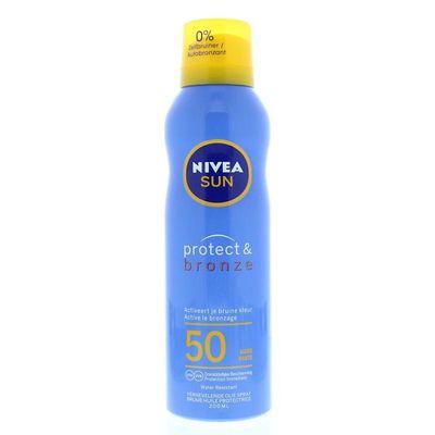 Nivea Sun protect & bronze beschermende spray SPF50