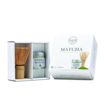 Teatox Bio Thee Matcha starterset 30 g poeder met klopper