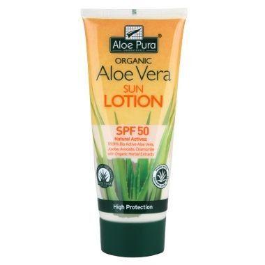 Optima Aloe pura organic aloe vera zonnelotion SPF50