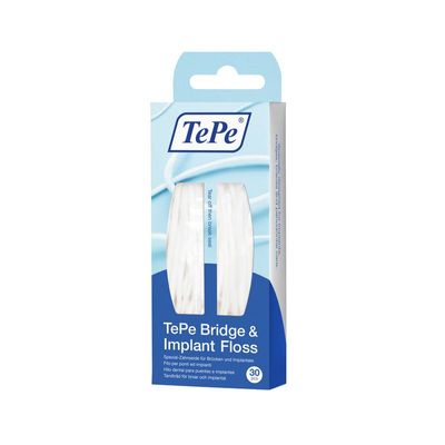 Tepe Bridge en implant floss
